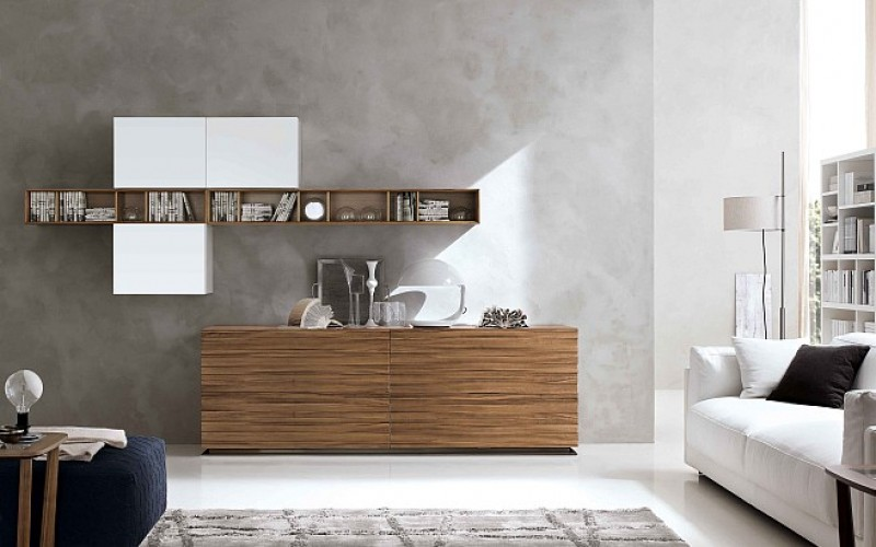 Credenza Moderna Noce : Potenza series credenza with glass doors office furniture
